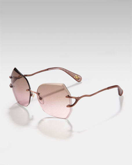 Rimless Metal Sunglasses