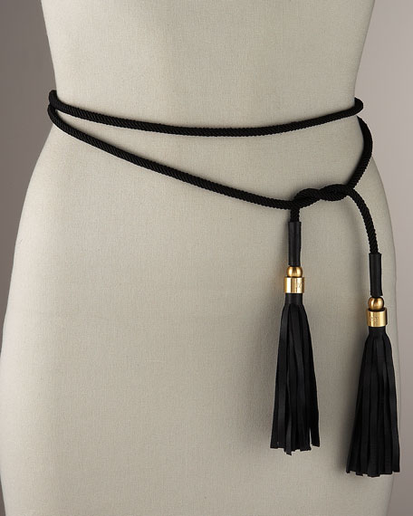 diane furstenberg leather tassel tie belt