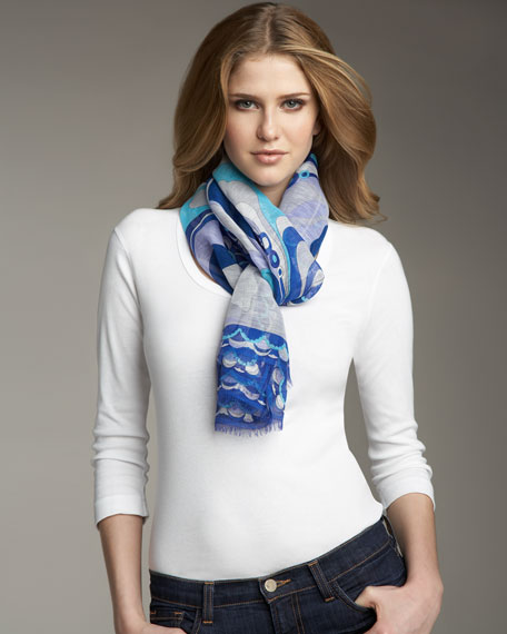 Orchidee Oblong Scarf