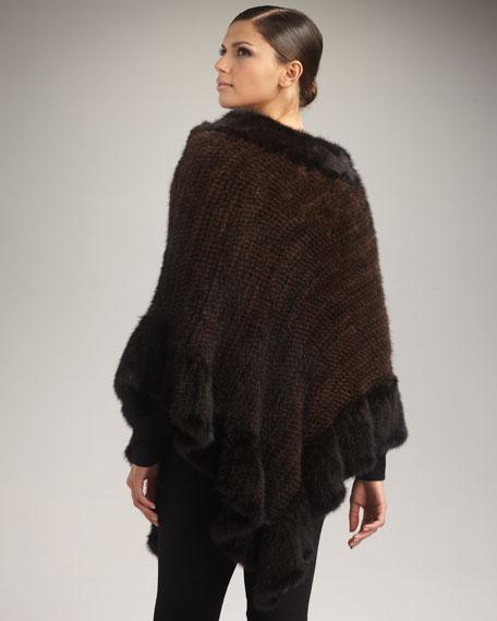 Knit Mink Poncho