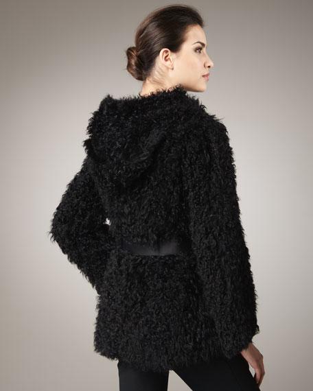 Kalgan Lamb Fur Hooded Jacket