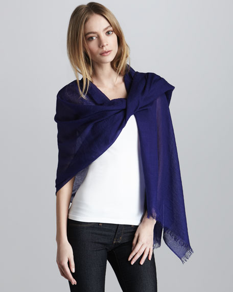 Ultra Lightweight Cashmere Stole, Royal
