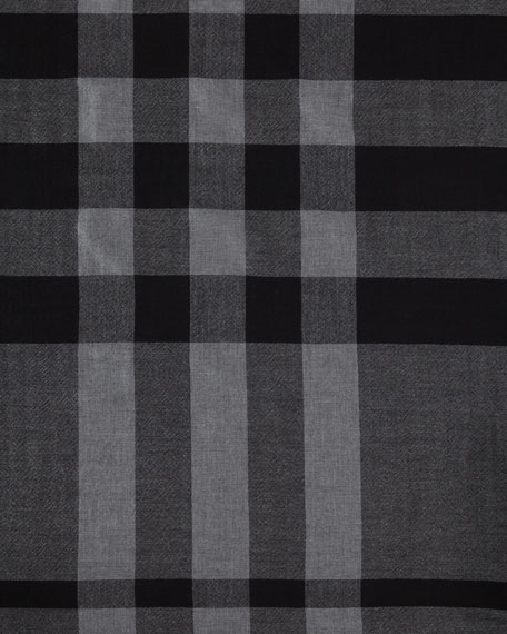 Colete Melange Check Merino Wool Cape