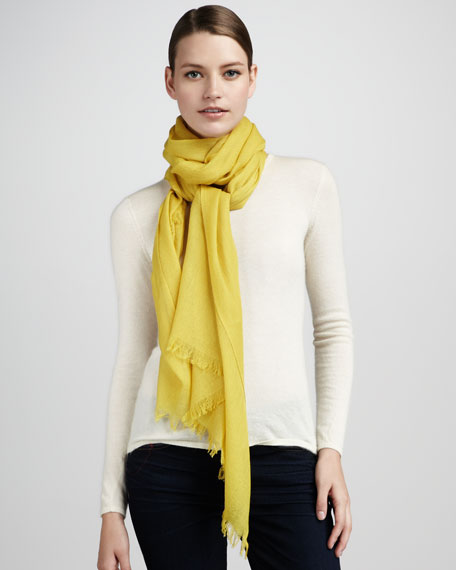 Ultra Lightweight Cashmere Stole, Dark Yellow