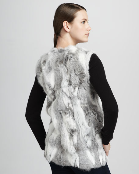 Textured Rabbit Fur Vest