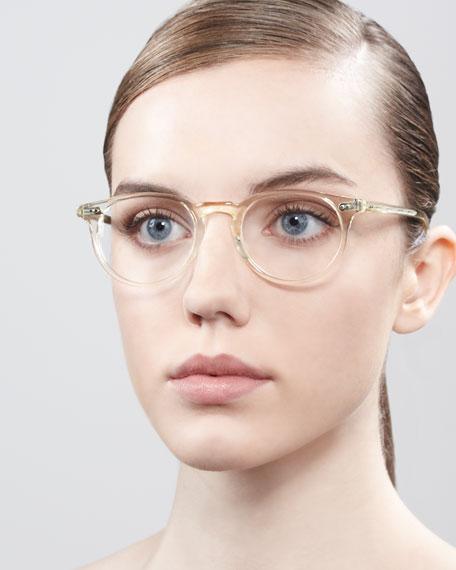 Riley Fashion Glasses, Beige Crystal