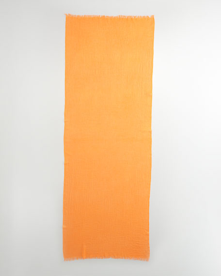 Ultra Lightweight Cashmere Stole, Orange