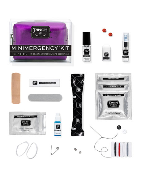 Minimergency Kit For Her, Metallic Purple
