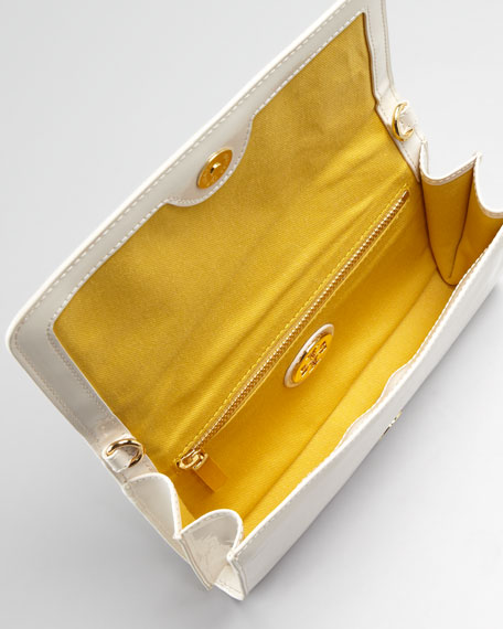 Logo-Perforated PVC Clutch Bag