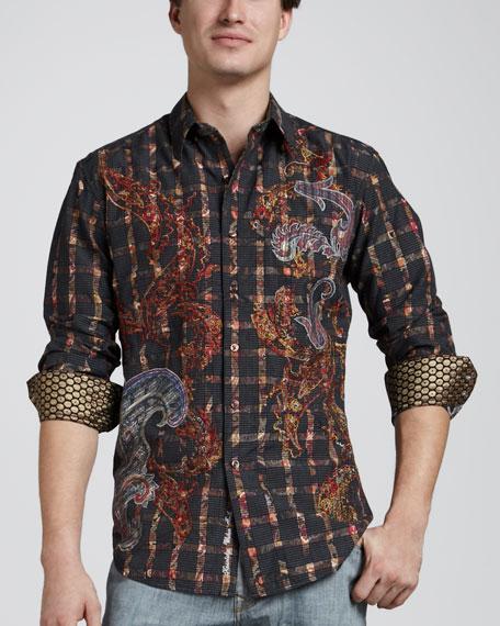 Fulton Textured Paisley Sport Shirt