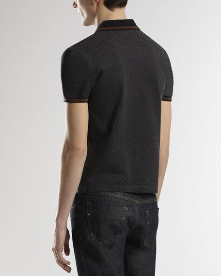 Short-Sleeve Polo, Blitz/Black