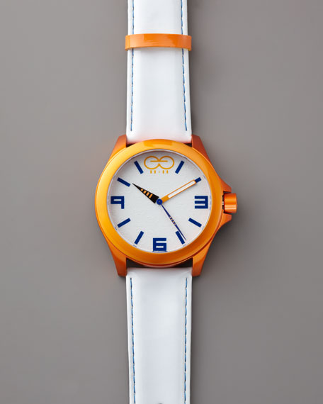 Aluminum Watch, Orange