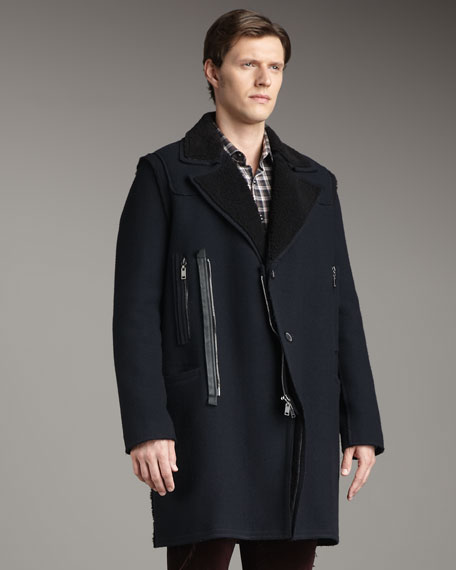Shearling-Lined Runway Coat