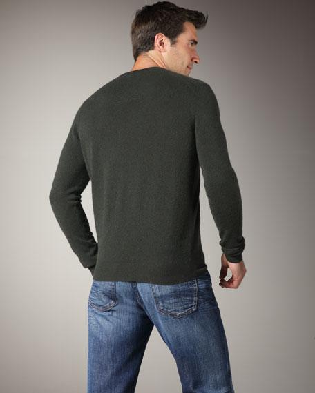 V-Neck Cashmere Sweater, Black