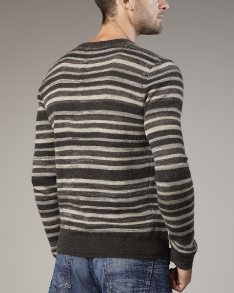 Double-Layer Striped Sweater