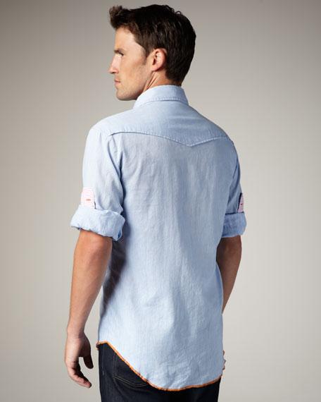 Sport Shirt, Powder Blue