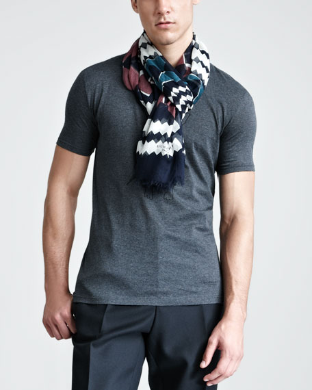 Printed Modal/Cashmere Scarf