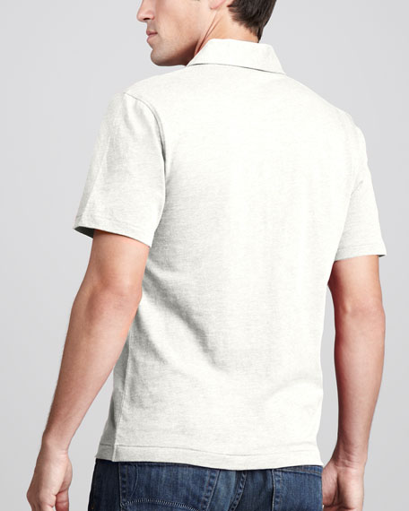 Jack Heathered Polo, White