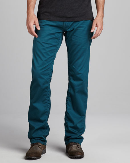 Ricky Five-Pocket Twill Pants, Peacock