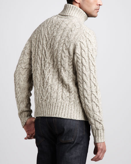 Turtleneck Aran Sweater