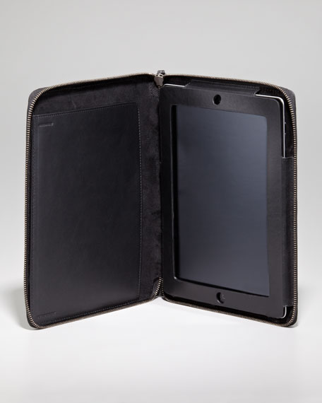 London Leather Zip iPad Case