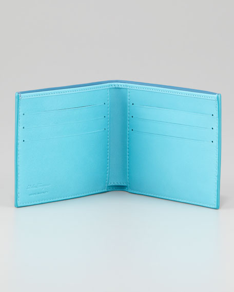 Pop Bicolor Leather Bi-Fold Wallet