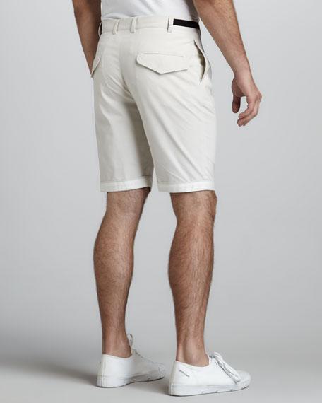 Contrast-Waist Shorts