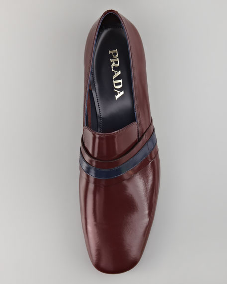 Runway Striped Leather Loafer