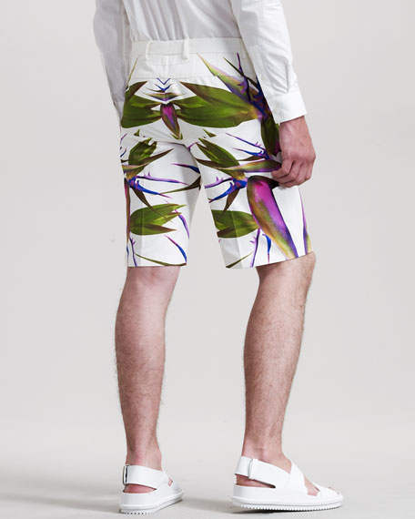 Birds-of-Paradise Bermuda Shorts
