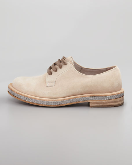 Beaded-Sole Lace-Up, Sand
