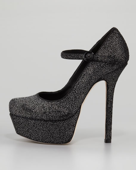 Lynda Beaded Platform Pump