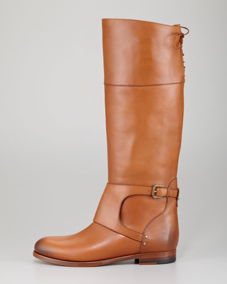 Sanita Leather Riding Boot, Camel
