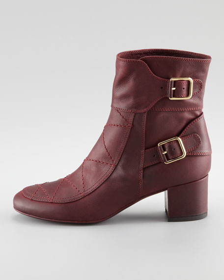 Babacar Two-Buckle Leather Boot