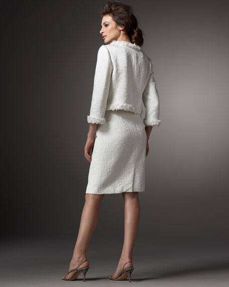 Two-Piece Jacquard Skirtsuit