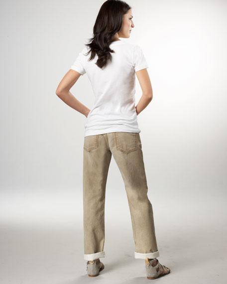 Love Boyfriend Khaki Vintage Jeans