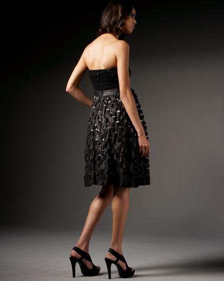 Leather Cutout Dress