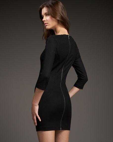 Slashed Arita Cutout-Neck Dress