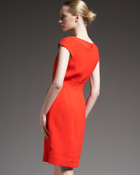 raya cap-sleeve dress