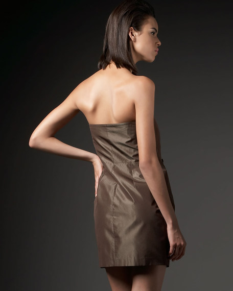 Patricia Taffeta Rosette Dress