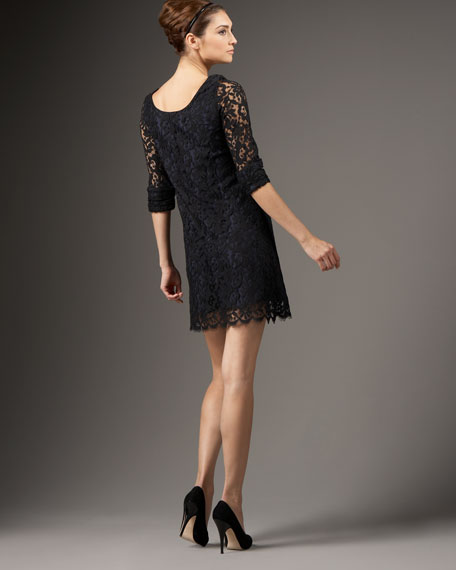 Scoop-Back Lace Dress