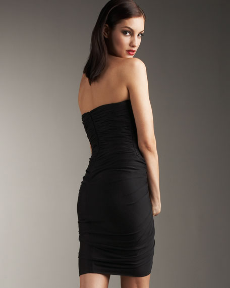 Alexis Ruched Dress, Black