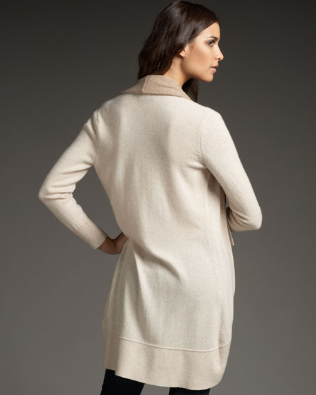 Draped Cashmere Cardigan