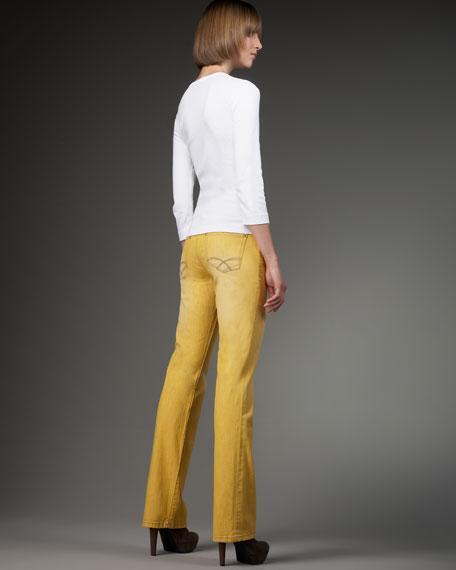 Boot-Cut Stretch Jeans