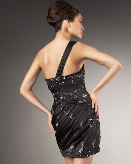 One-Shoulder Beaded Dress