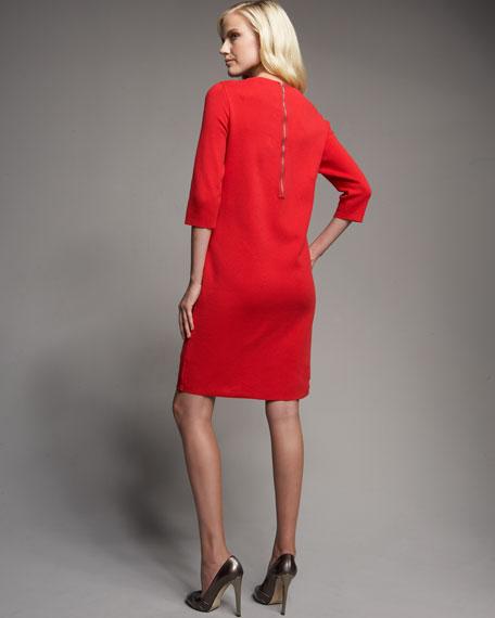 Grommet Knit Dress