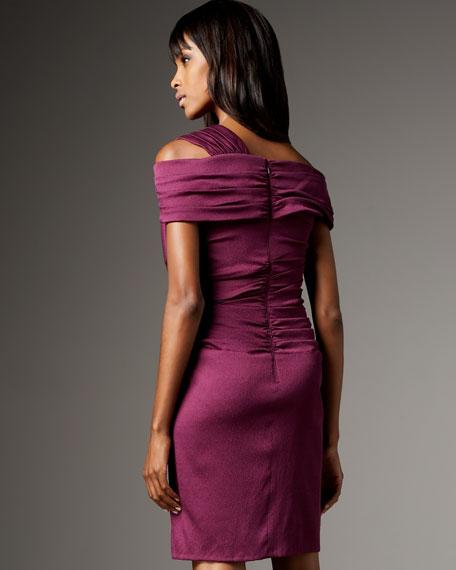 Asymmetric Satin Cocktail Dress