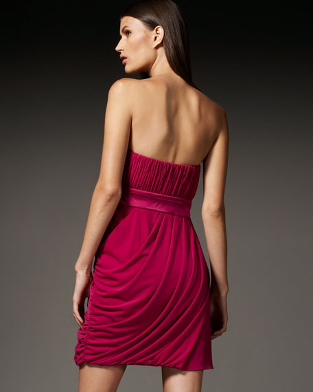 Strapless Draped Dress