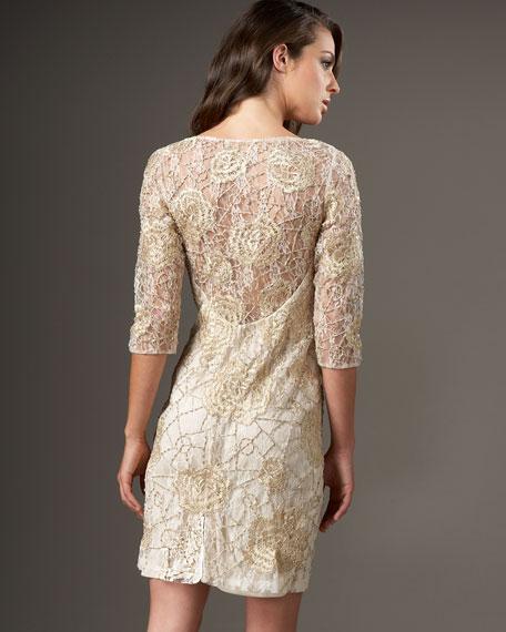 Floral-Lace Cocktail Dress