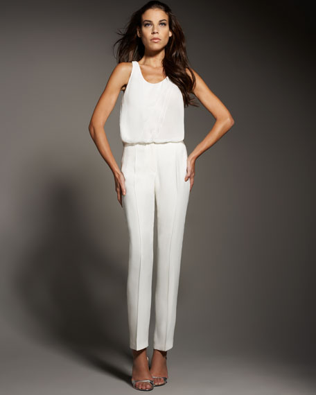 Fitted Silk Pants
