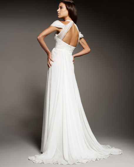 Mousseline Hand-Pleated Gown